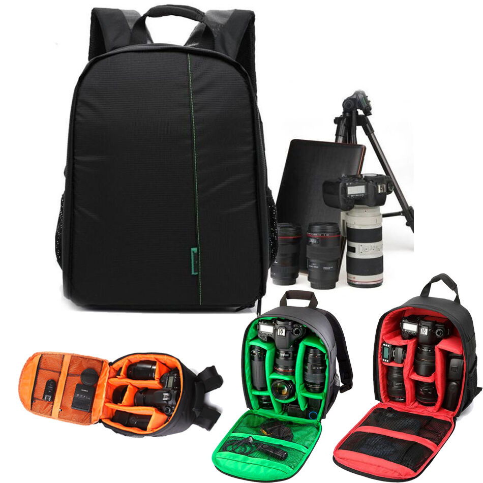 how to put dslr camera in bag
