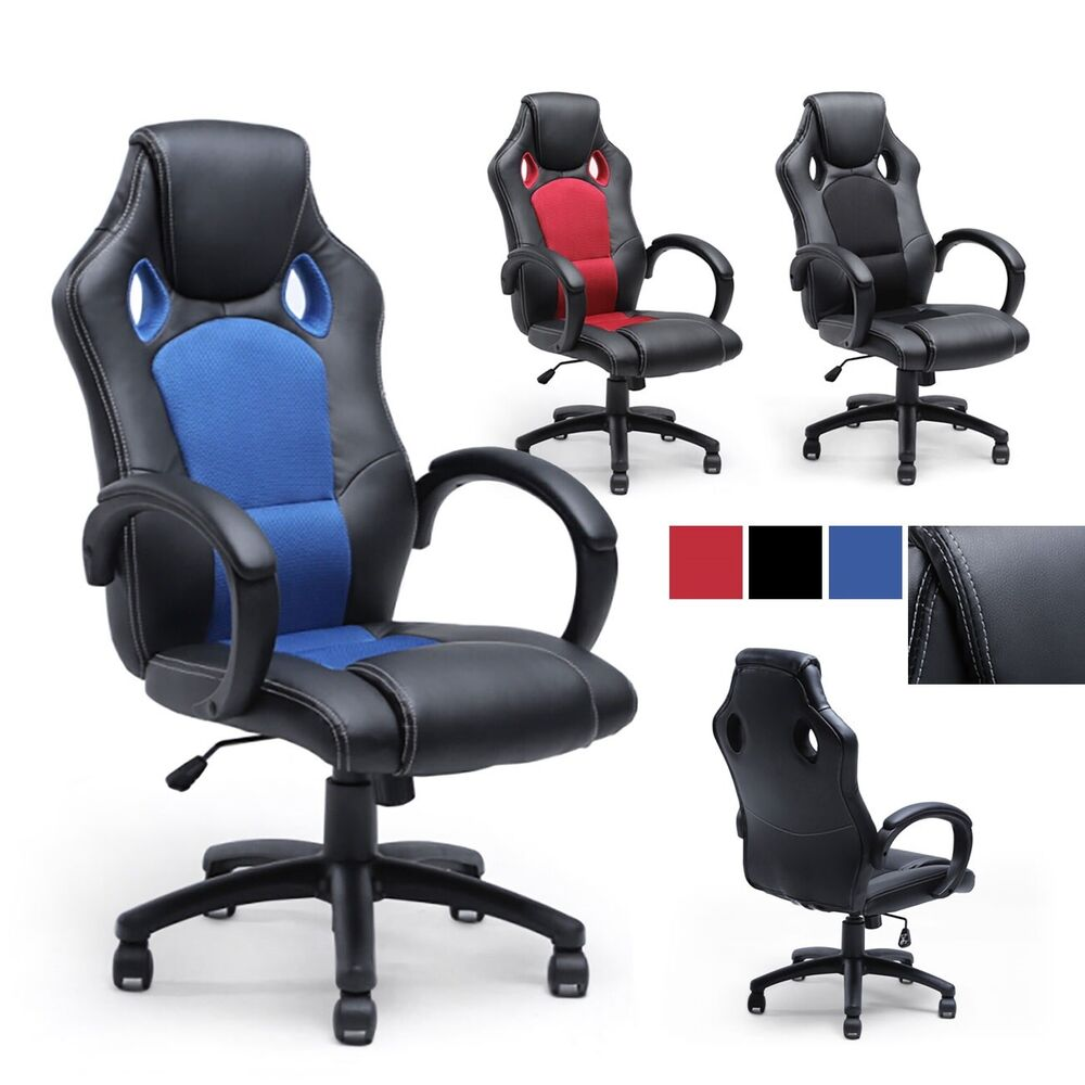 race car style bucket seat office desk chair gaming computer chair