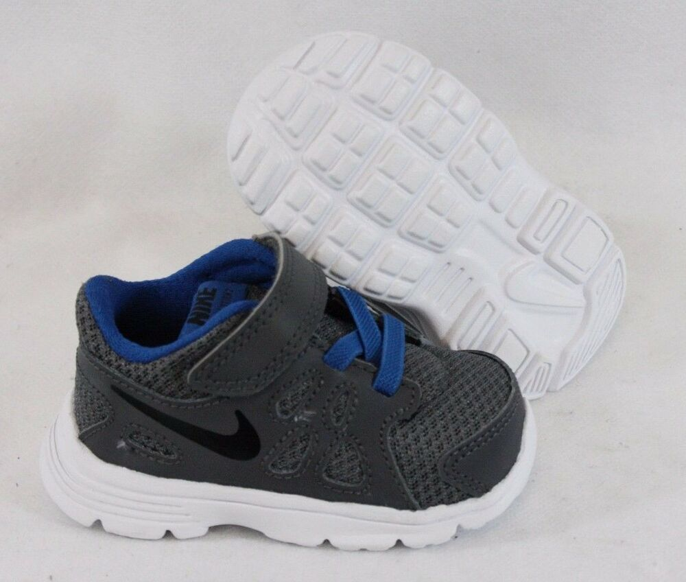 check out d088e cac14 Details about NEW Boys Infant Toddler NIKE Revolution 2 TDV 555084 041 Grey  Sneakers Shoes