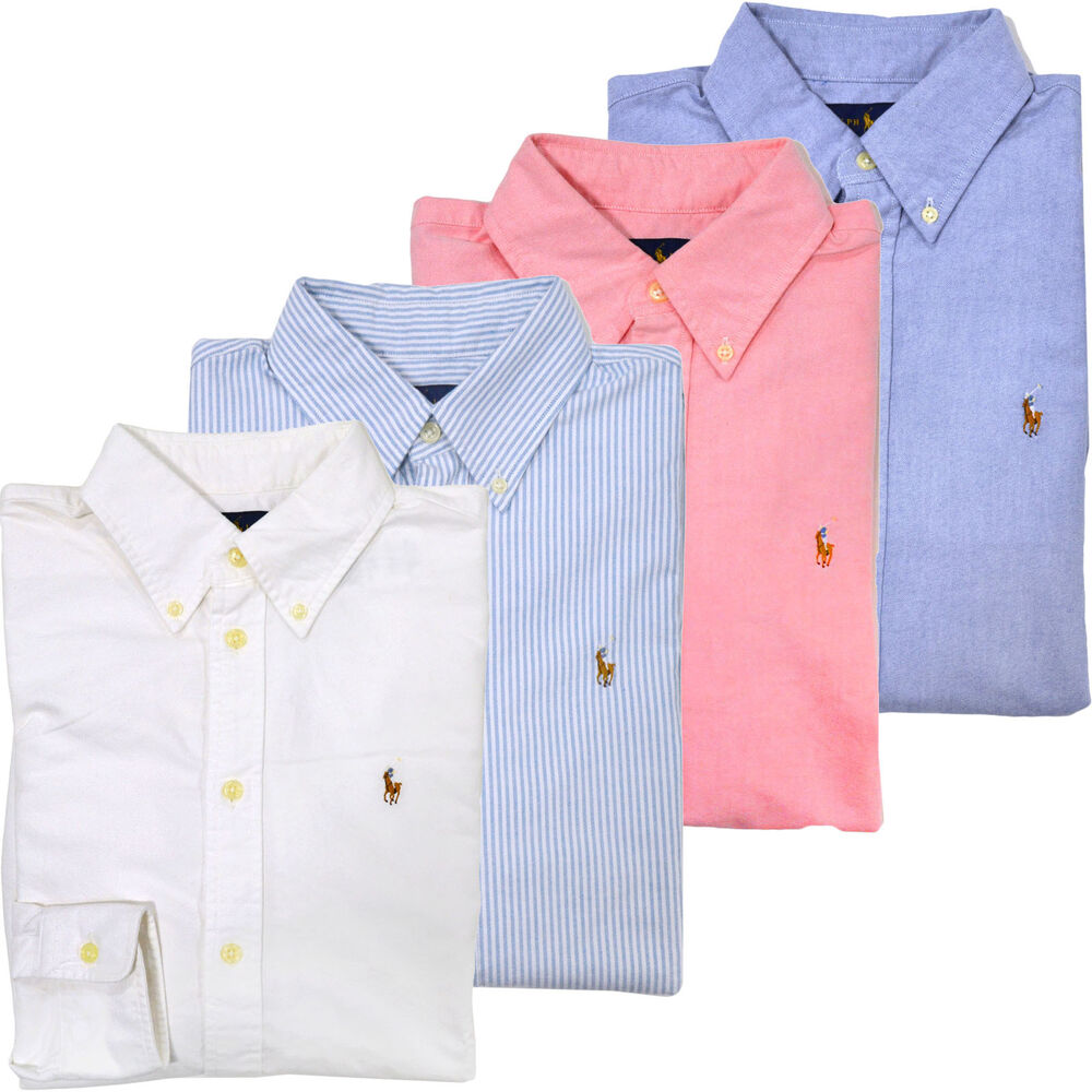 Polo ralph lauren womens oxford shirt button down new for Womens button down shirts fitted