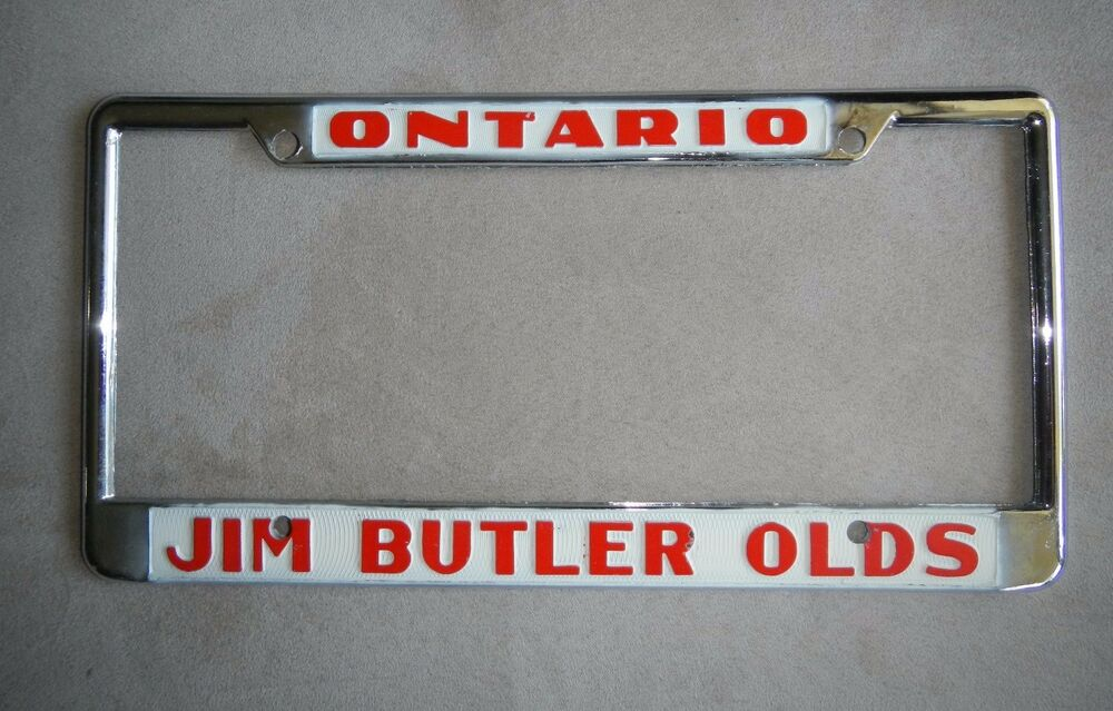 Ontario Jim Butler Oldsmobile Dealership License Plate