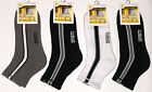 6 PRS SZ 7-11 MENS MIX STRIPE CUSHION 3/4 ANKLE SPORT SOCKS