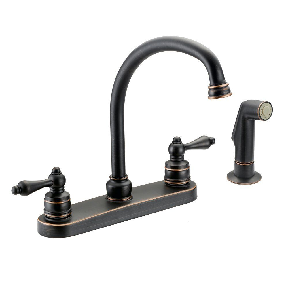 oil rubbed bronze faucet kitchen designers impressions oil rubbed bronze kitchen faucet with sprayer 651779 ebay 8275