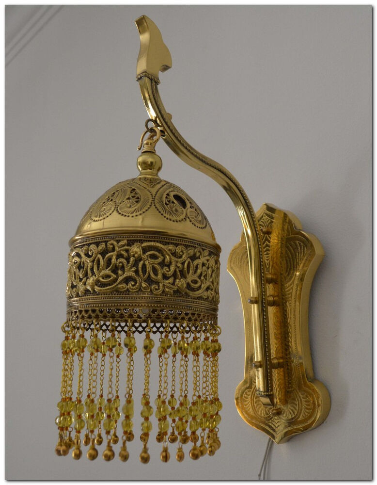 Moroccan Brass Wall Lights : Handcrafted Moroccan Brass Wall Fixture Lamp Sconce Light eBay