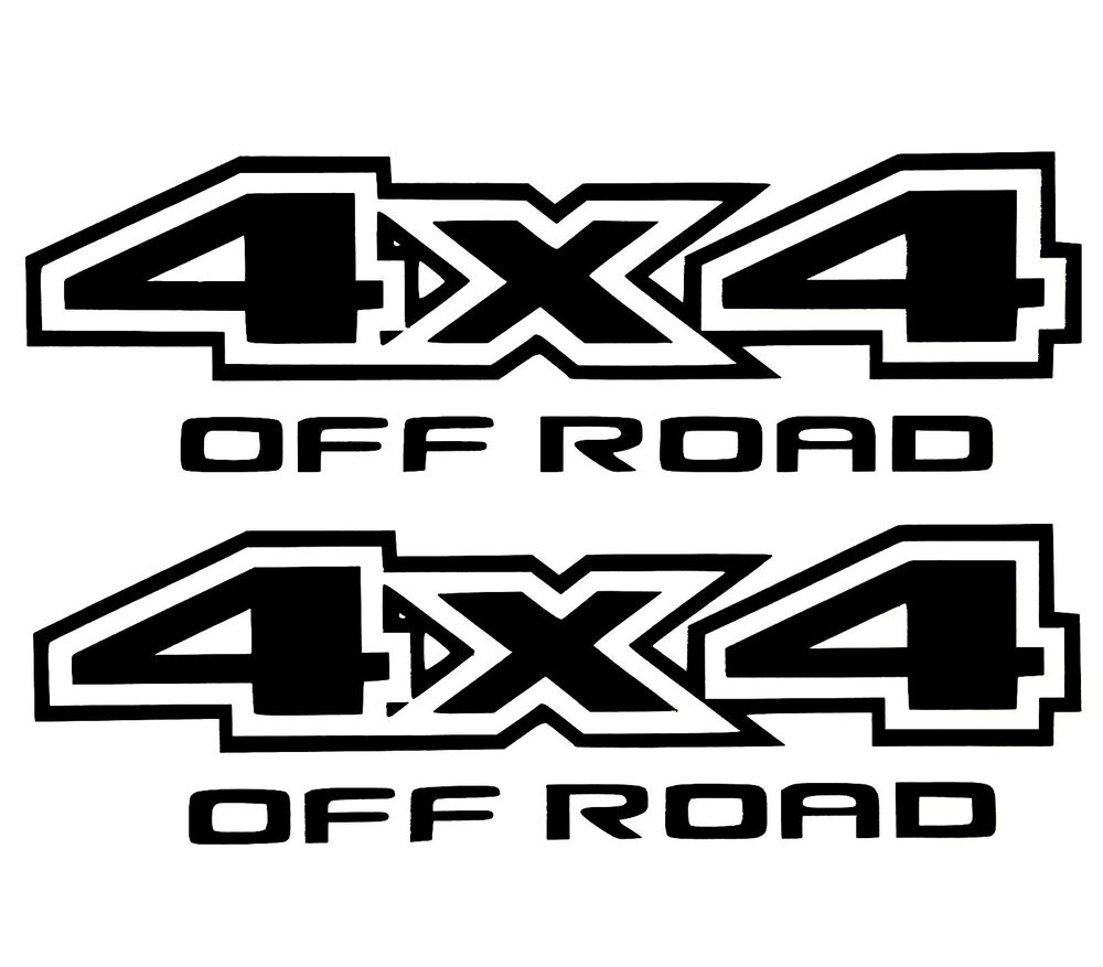 2 New 4x4 Off Road Decal Sticker 4wd Truck Suv Ford Chevy