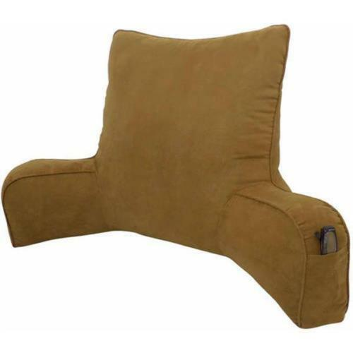 Suede Solid Color Oversized Bedrest Lounger Pillow Plush