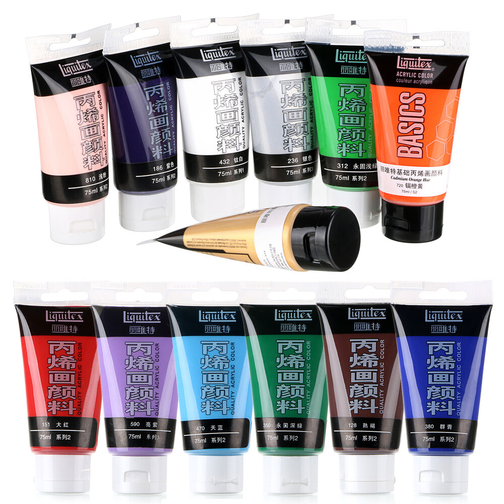 New 1 pcs colors choose 75ml nail art paints tubes draw for Basic acrylic paint colors to have