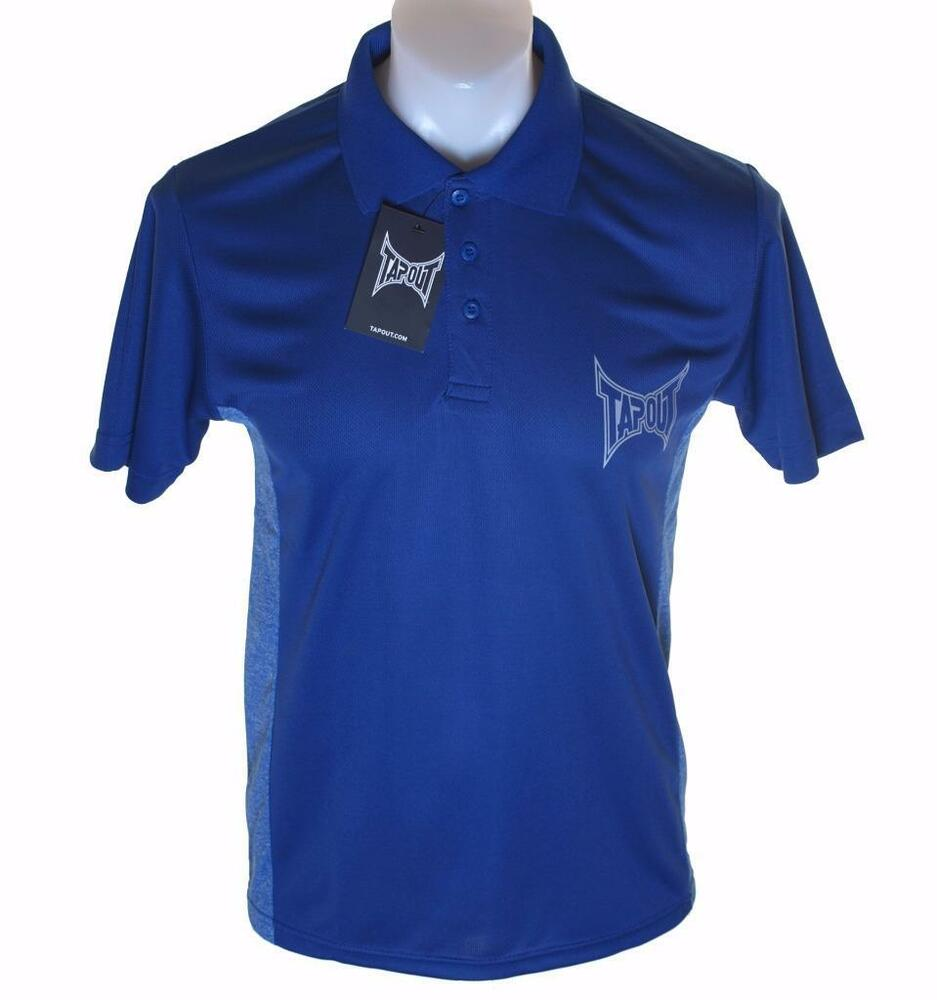 e0a28f83 Bnwt Authentic Men's Tapout Short Sleeve Polo Shirt New Blue MMA UFC | eBay