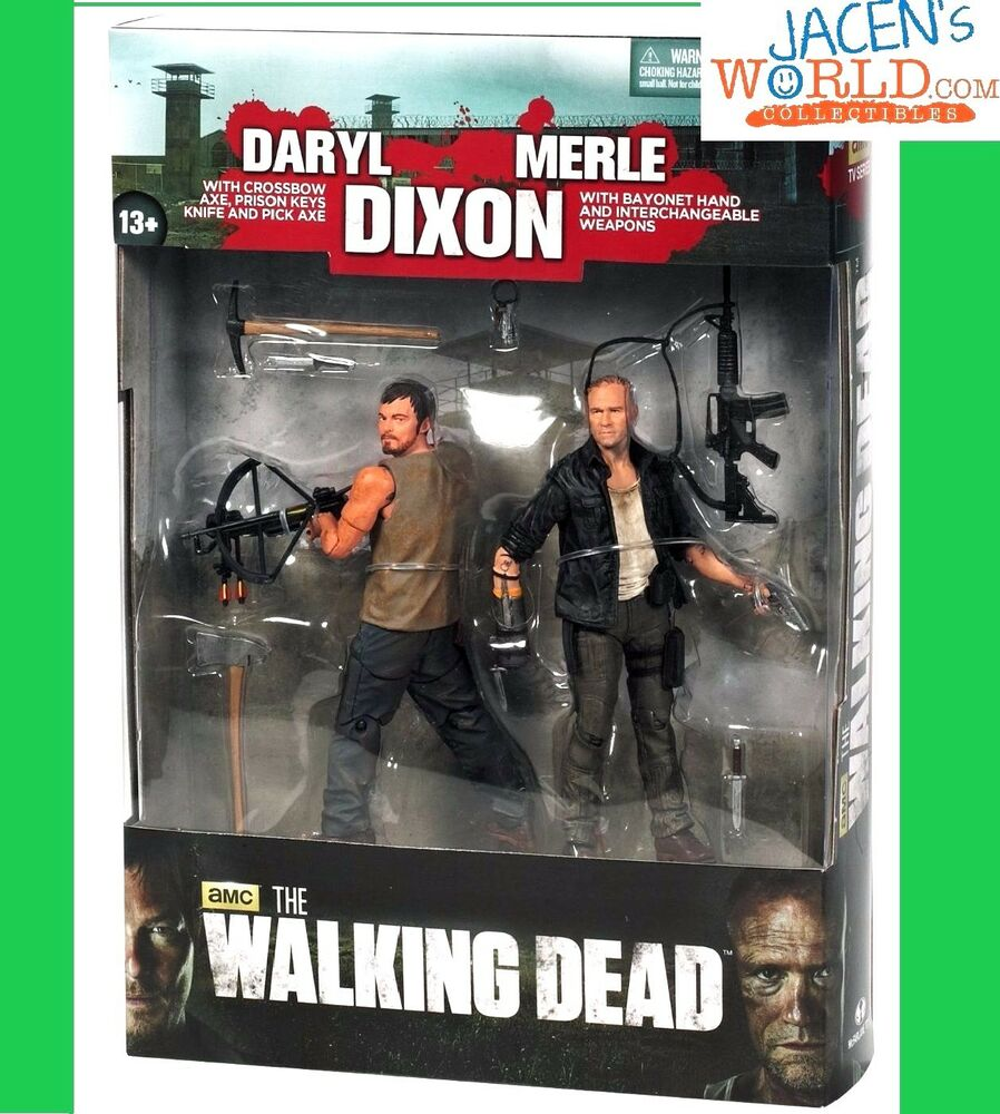 merle and daryl dixon action figure crossbow mcfarlane the