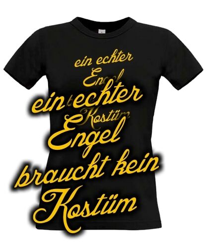 t shirt kost m echter engel spruch ersatz fasching. Black Bedroom Furniture Sets. Home Design Ideas