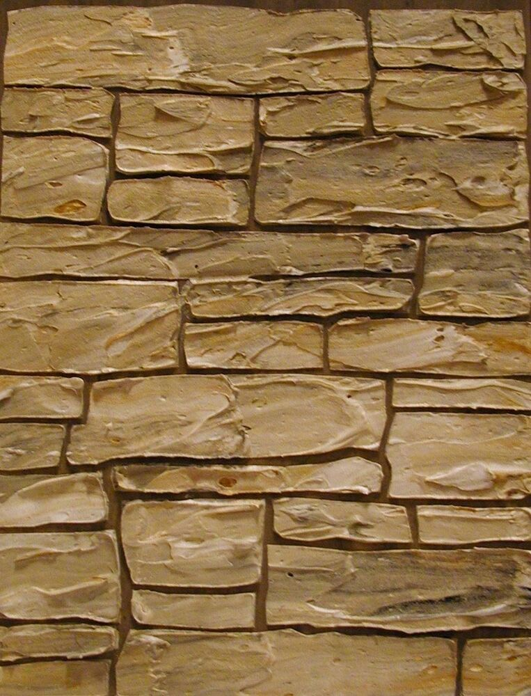 Marble Wall Plaster : Stencil plaster stacked stone wall