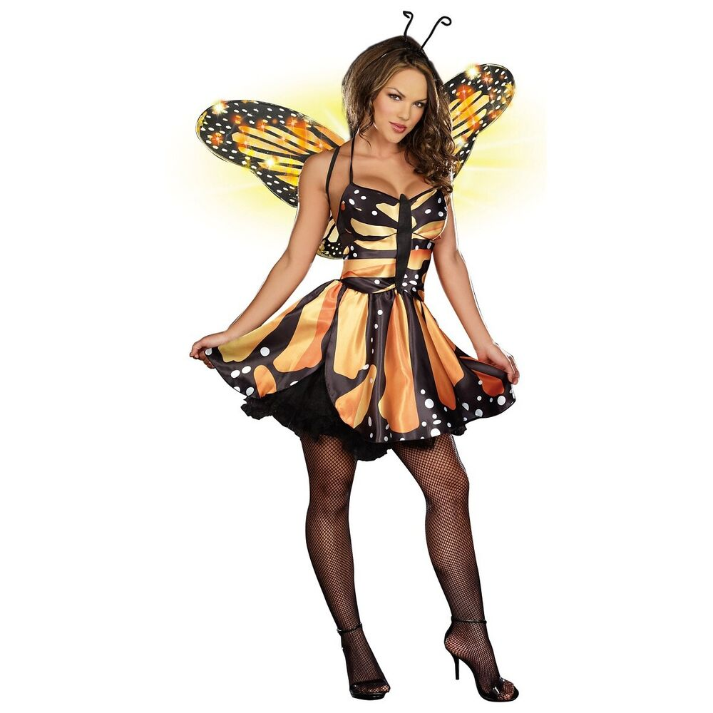 sc 1 st  eBay & Monarch Butterfly Costume Adult Fairy Halloween Fancy Dress | eBay