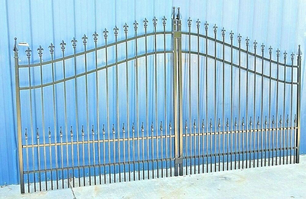 Custom built driveway entry gate ft wide single swing