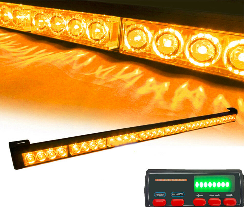 truck 32 led amber warning traffic advisor flash light bar with. Black Bedroom Furniture Sets. Home Design Ideas