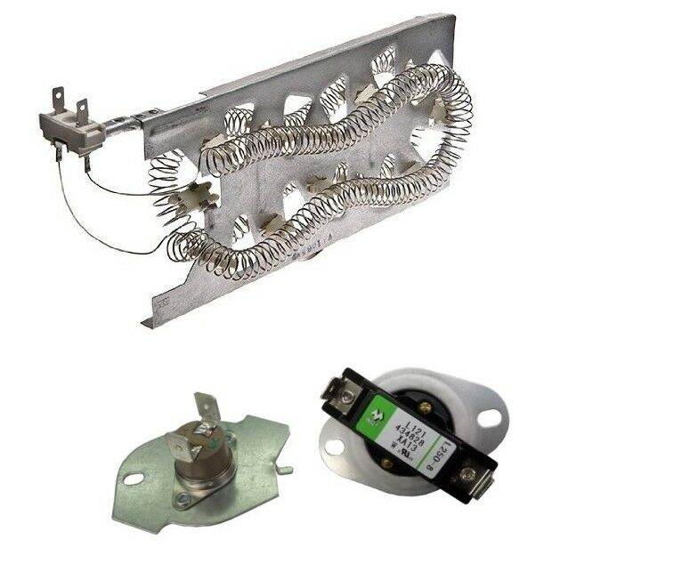 Dryer Heating Element And Thermostat Set For Whirlpool