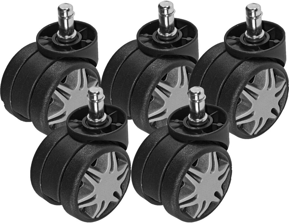 Deluxe Office Chair Twin Dual Wheel Heavy Duty Casters ...
