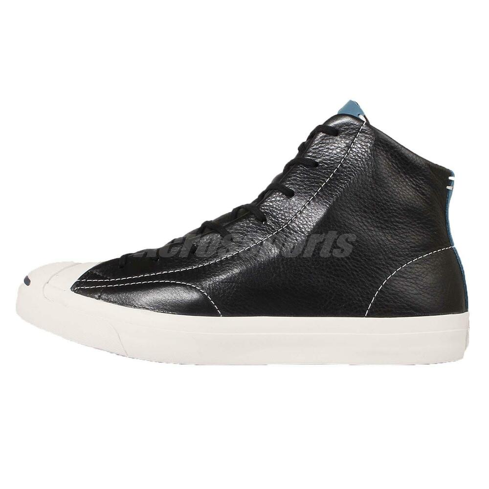 converse purcell black white leather mens casual