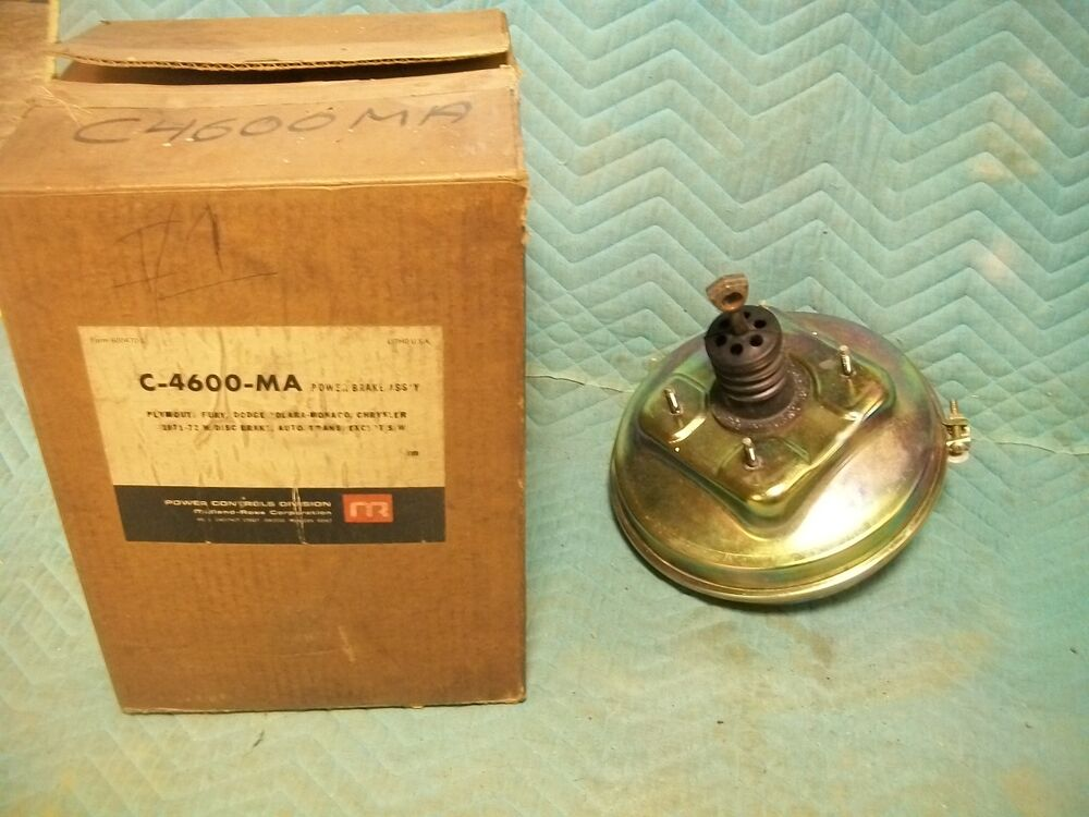 New Power Brake Booster 1971 1972 Plymouth Fury Dodge