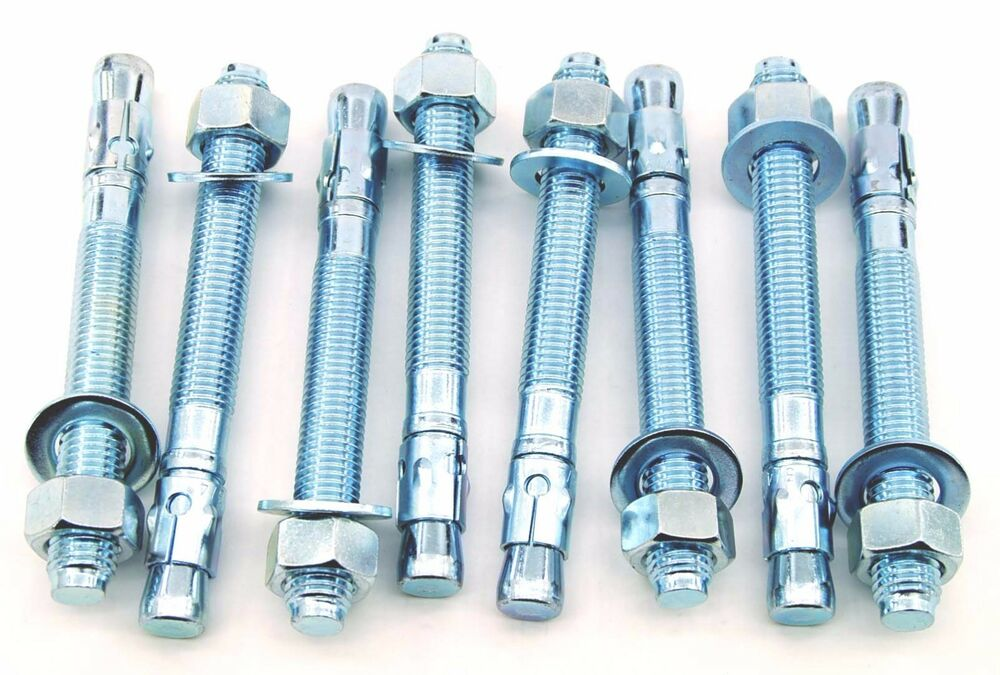 (6) Concrete Wedge Anchor Bolts 3/4 x 10 Includes Nuts ... |Wedge Bolts Concrete