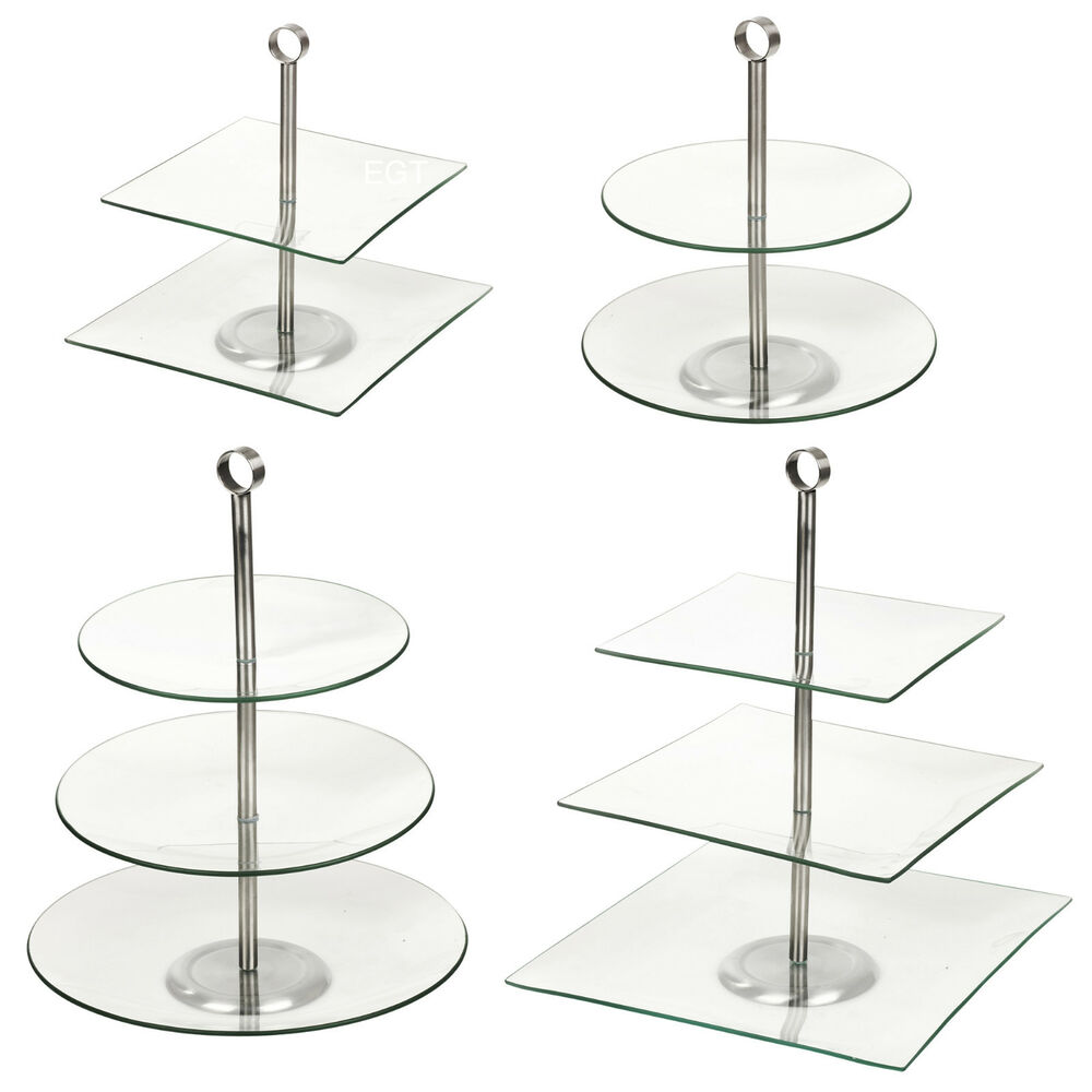 cake plate stand 2 3 glass tiered pastry pie wedding cake cupcake platform 2271