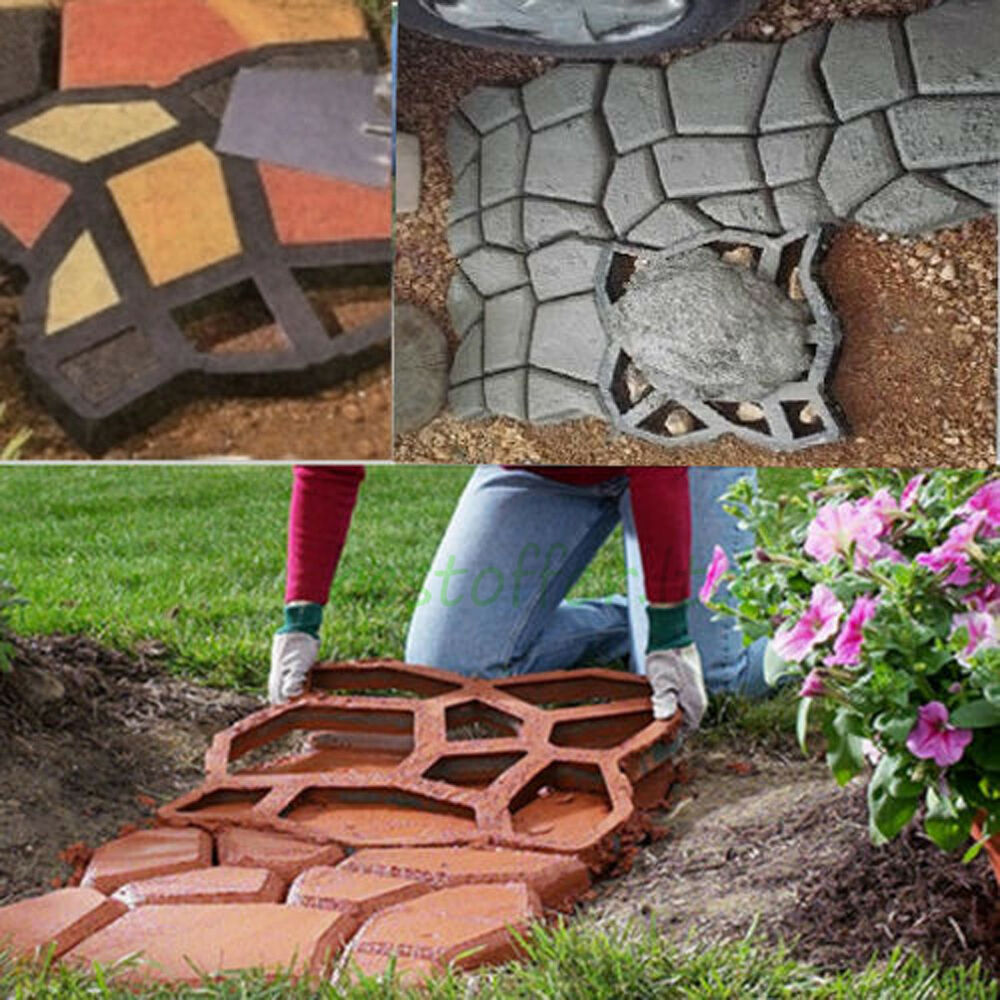 diy plastic path maker mold manually paving cement brick molds the