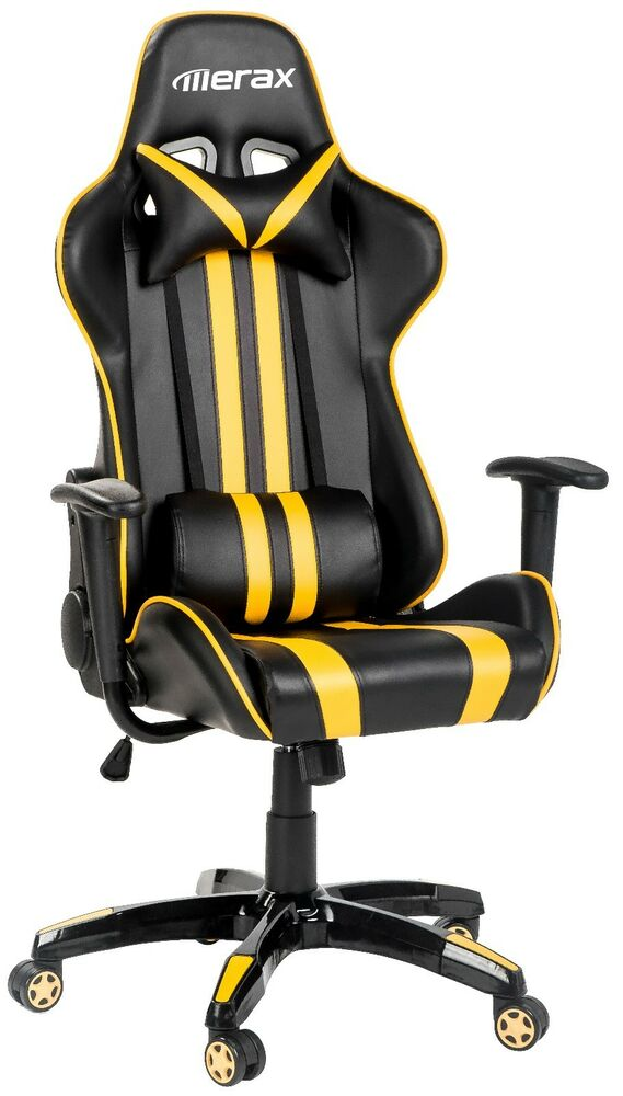 merax executive racing gaming chair high back pu leather race car seat chair ebay. Black Bedroom Furniture Sets. Home Design Ideas