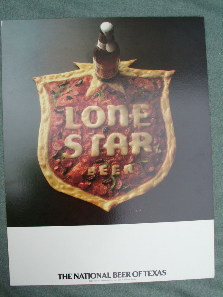 Vintage 1970s 1980s lone star beer pizza sign san antonio for Craft beer store san antonio