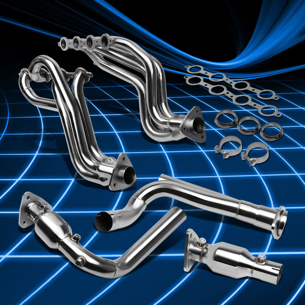 Fit Chevy/GMC Truck 99-05 4.8L/5.3L V8 Stainless Header