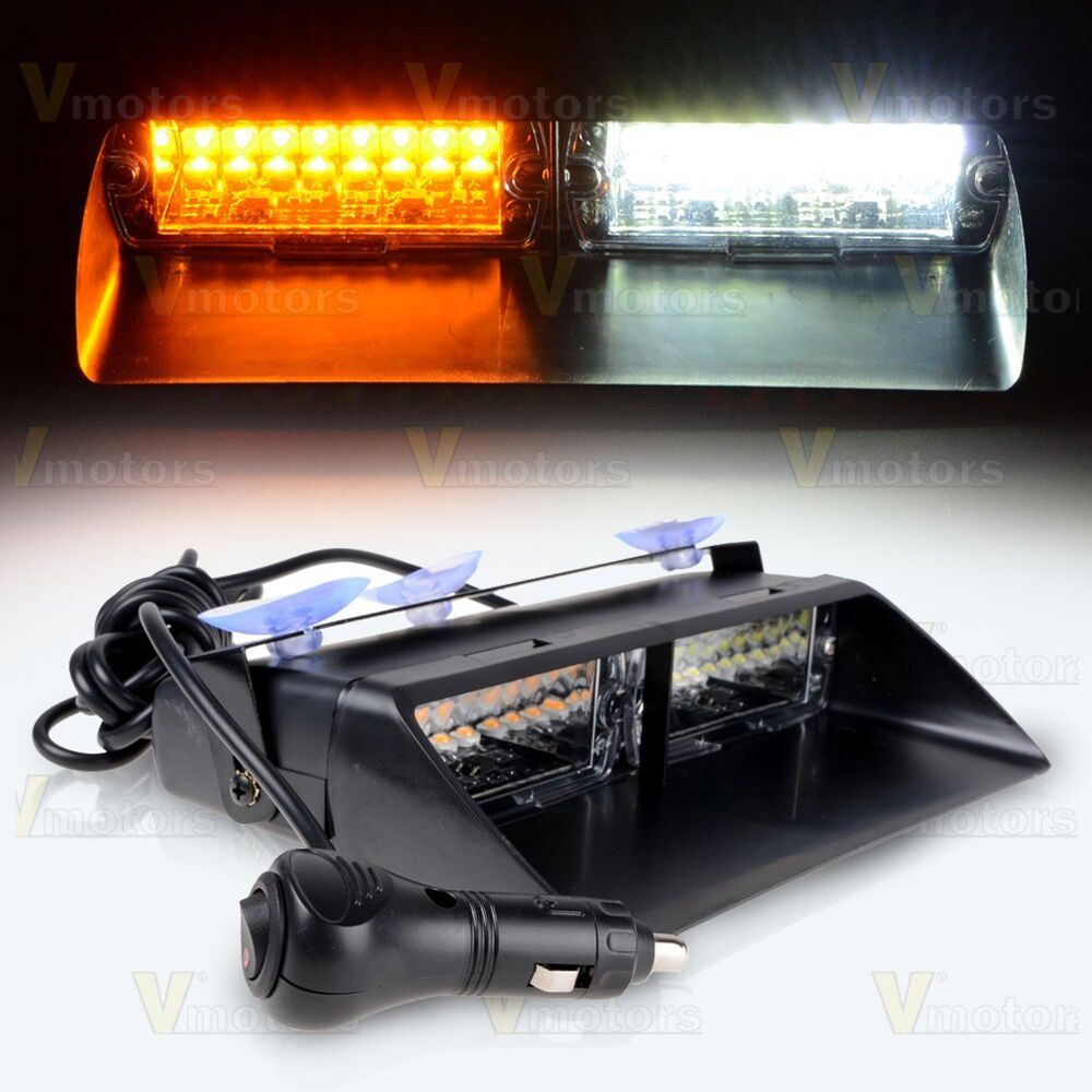 Car Truck Windshield Emergency Warning Strobe Flashing