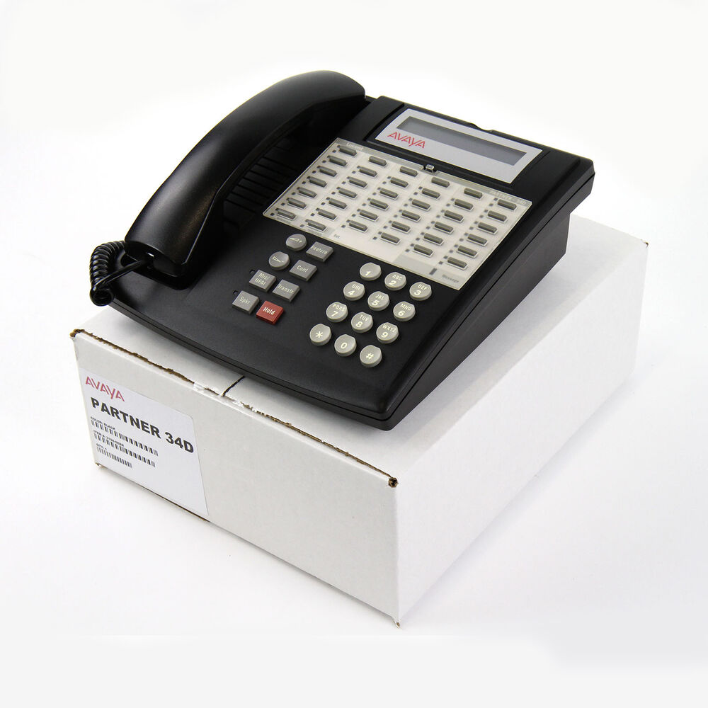 partner 34d euro series 1 black avaya 3158 08 telephone. Black Bedroom Furniture Sets. Home Design Ideas