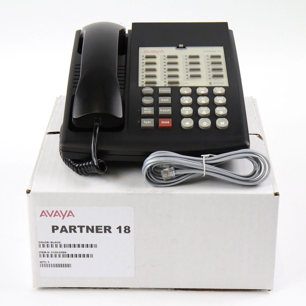 partner 18 euro series 1 black avaya lucent telephone. Black Bedroom Furniture Sets. Home Design Ideas