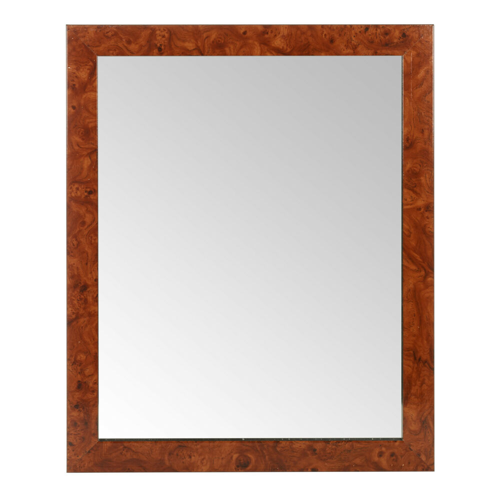 Large glass mirror wall mountable rectangle mahogany for Tall glass mirror
