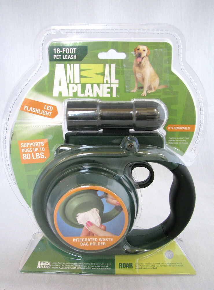 Animal Planet Green Retractable Dog 16 Ft Leash Led