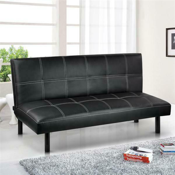 Room Store Living Room Furniture: Modern PU Leather 3 Seater Sofa Bed