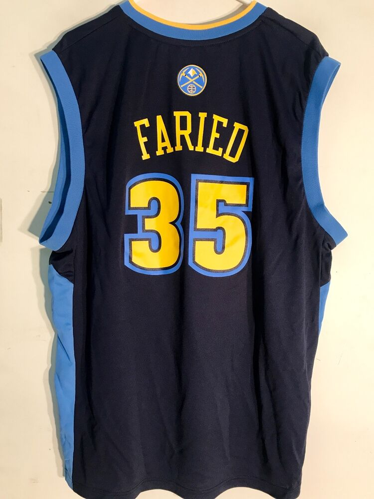 Adidas NBA Jersey Denver Nuggets Kenneth Faried Navy sz M  669ca76bf