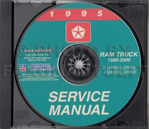 1995 dodge ram truck shop manual cd 1500 2500 3500 service. Black Bedroom Furniture Sets. Home Design Ideas