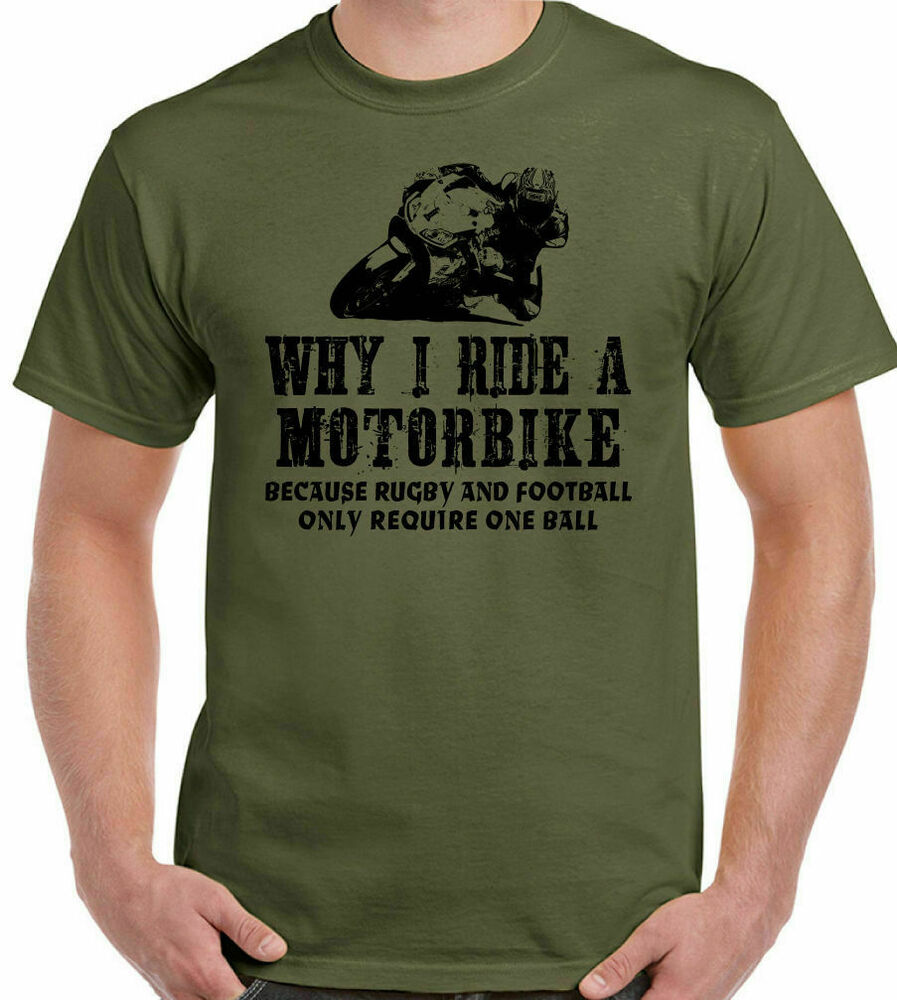 why i ride a motorbike mens funny t shirt motorcycle. Black Bedroom Furniture Sets. Home Design Ideas