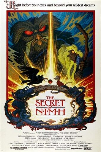 the secret life of nimh 1982 movie poster amimated unique
