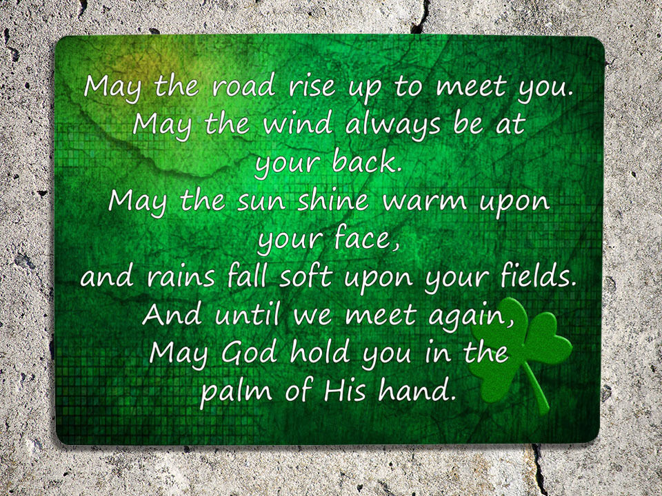 may the road rise to meet you irish blessing wall hanging