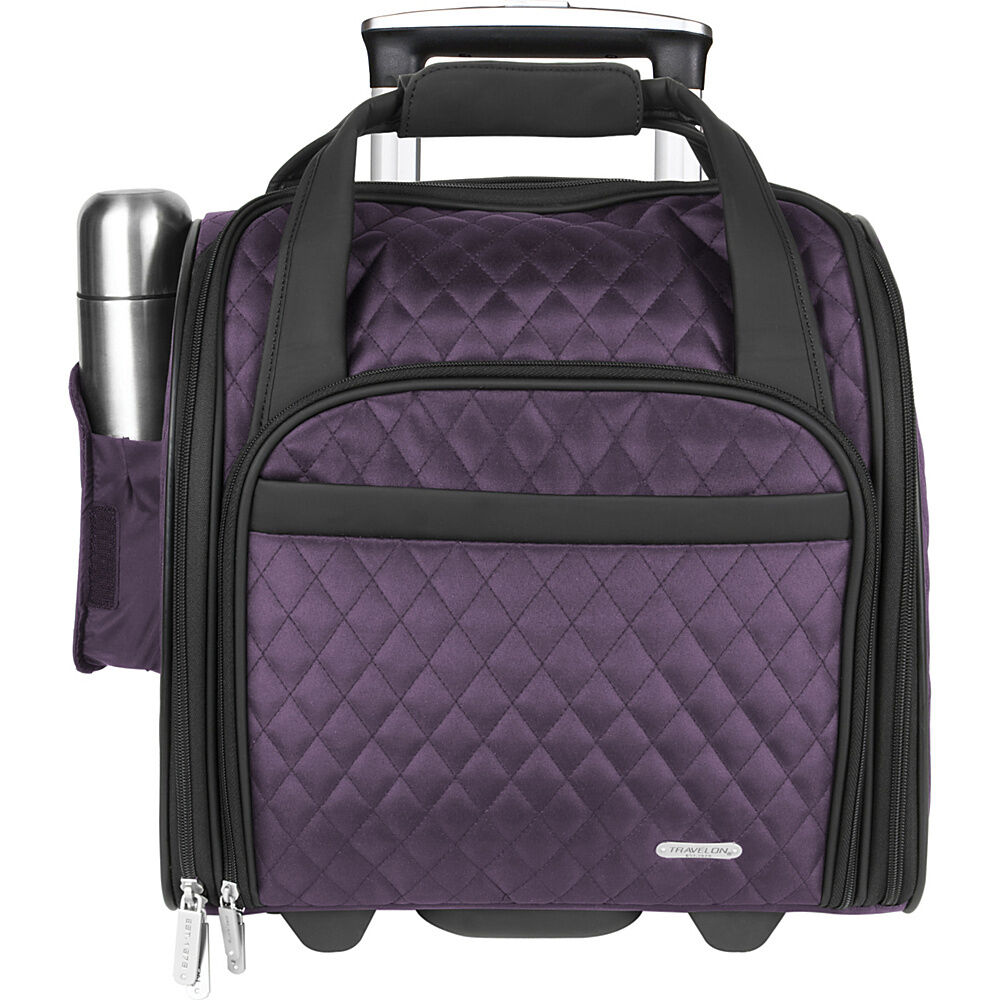 travelon wheeled underseat carry on with back up bag. Black Bedroom Furniture Sets. Home Design Ideas