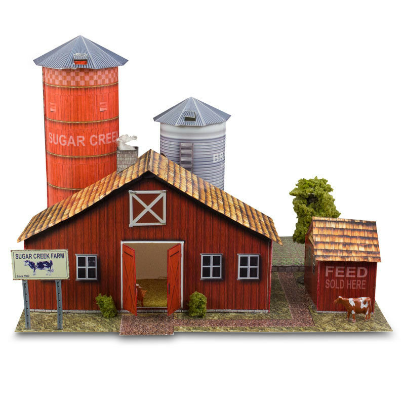 1 48 Scale O Gauge Sugar Creek Vintage Farm Photo Real