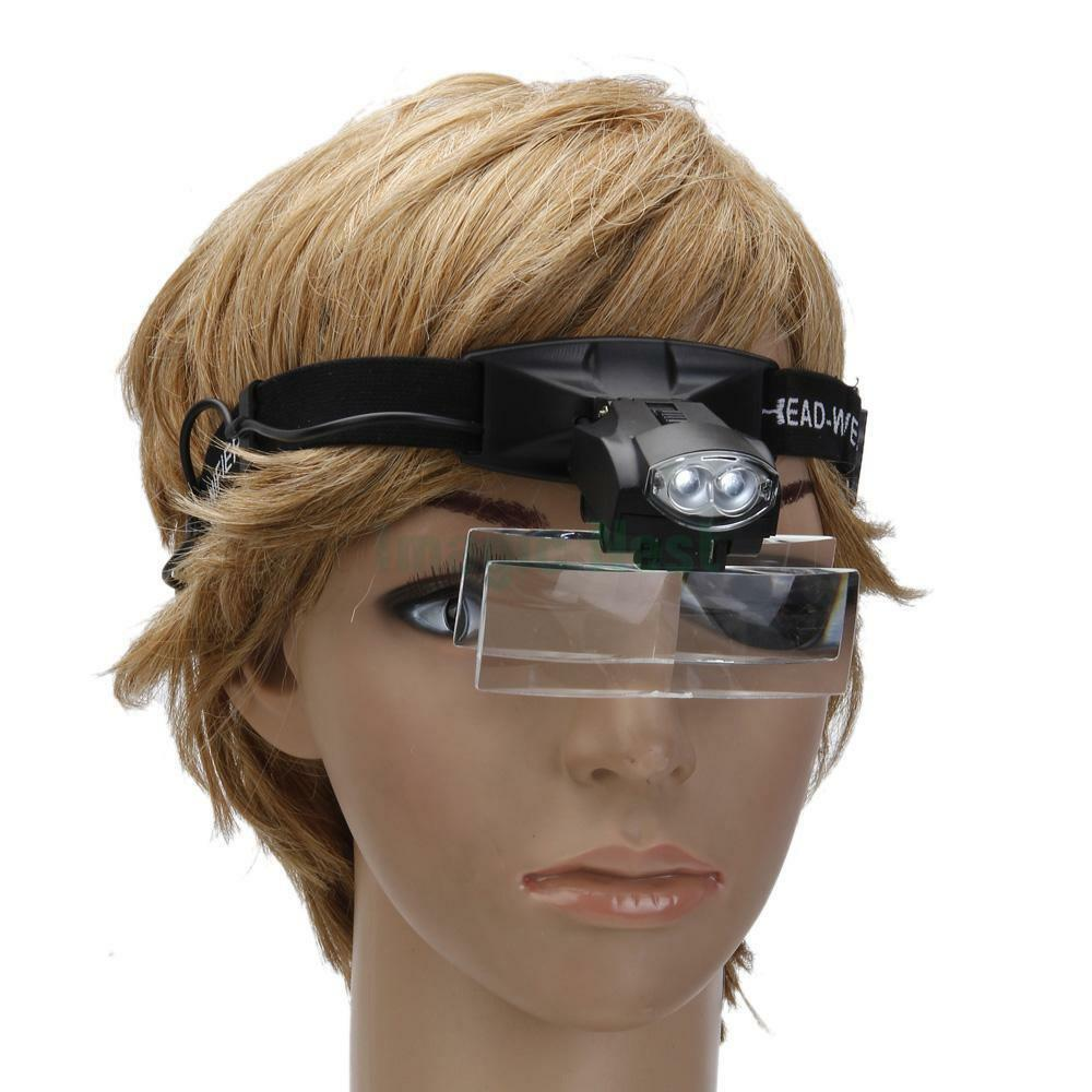 5 Lens Jewelry Magnifying Glass Headband Loupe Magnifier