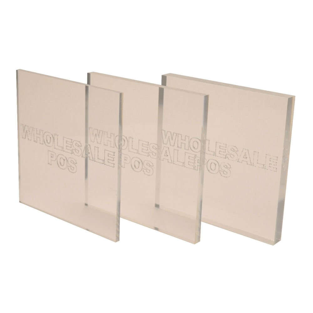 Square Clear Plastic Acrylic Perspex Sheet Amp Block 1mm