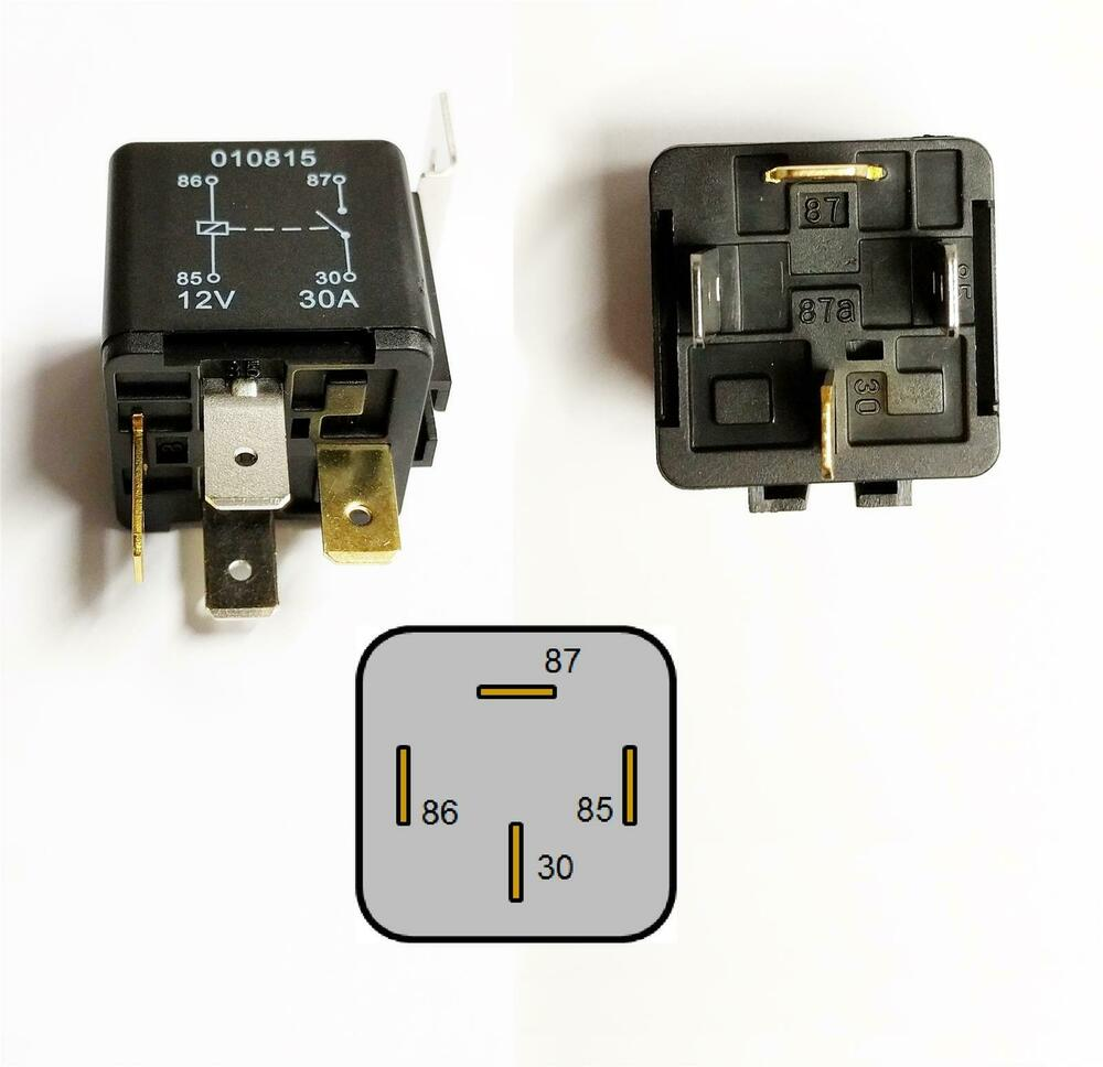4 Pin Relay 12v 30a Cable Current Protection Heavy Duty