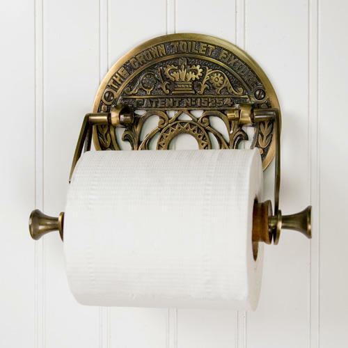 Crown Toilet Fixture Solid Brass Toilet Paper Holder