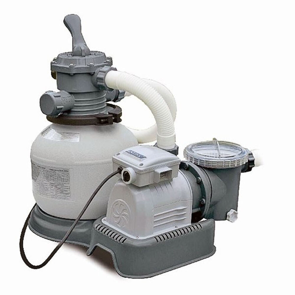 Intex krystal clear swimming pool sand filter pump 2800 gph 28648 ebay - Pool filter sand wechseln ...