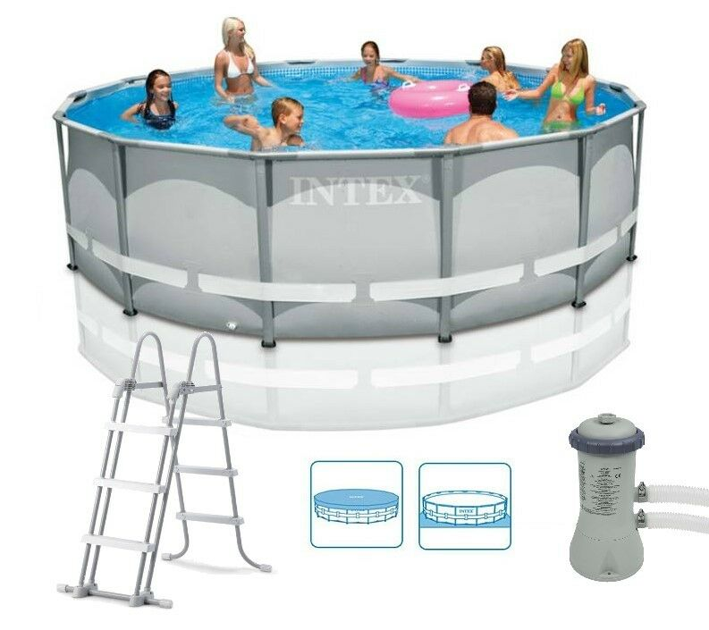 intex 14ft x 42 ultra frame above ground swimming pool with filter pump 28310 ebay. Black Bedroom Furniture Sets. Home Design Ideas