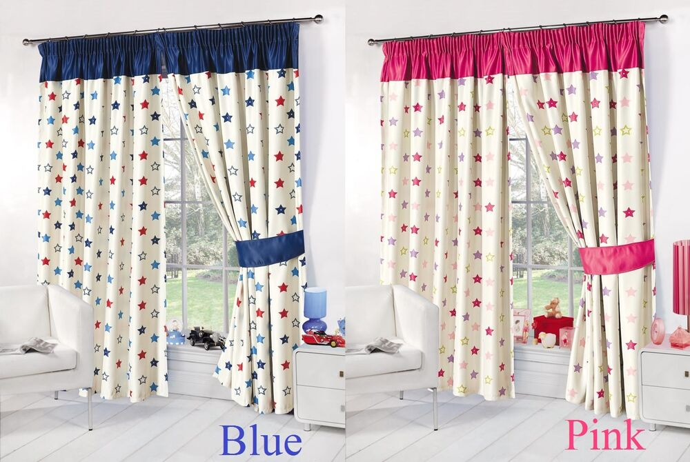 Childrens bedroom curtain kids stars thermal blackout - Childrens bedroom blackout curtains ...