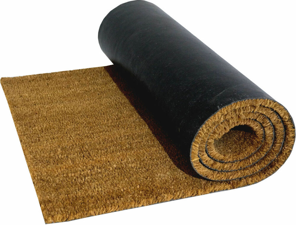 pvc backed large heavy duty natural coir door mat floor mat entrance
