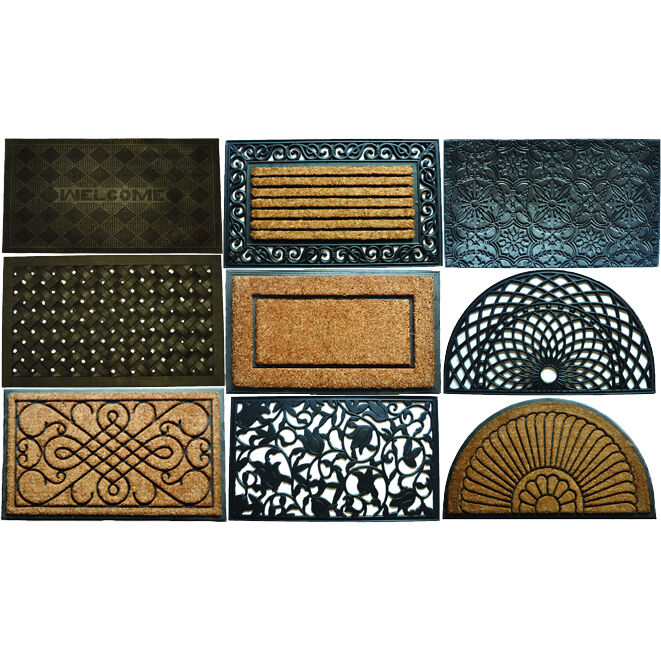 rubber coir door mats for indoor outdoor use various designs ebay